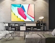 Abstract Canvas Art - Large Painting on Canvas, Contemporary Wall Art, Original Oversize Painting Oversized Canvas Art, Large Canvas Art, Abstract Canvas Art, Large Painting, Acrylic Art, Painting Art, Painting Abstract, Canvas Paintings, Bright Paintings