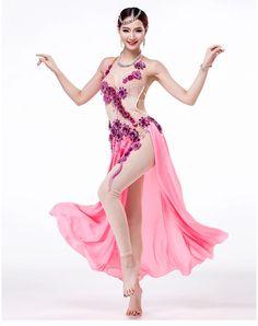 Barato High end desempenho traje de dança do ventre definir mulheres encenar…