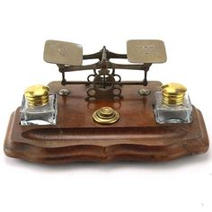 English Inkstand with Postal Scales, Circa 1880.
