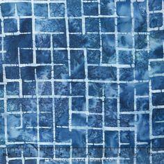 Artisan Batiks - Allegro 2 — Missouri Star Quilt Co. Batik Pattern, Missouri Star Quilt, Robert Kaufman, Blue Square, Cushion Fabric, Blue Backgrounds, Grid, Studios, Artisan