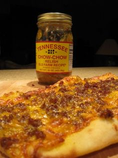 Country Sausage and Chow-Chow Flatbread