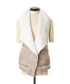 sherpa vest, BEIGE, hi-res 79.50 -> sale 39.75 $