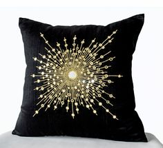 Decorative Throw Pillows -Premium Beaded Pillow -Pure Silk Gold Starburst Pillows -Sheesha Pillows -Gift -Mirror pillow pillows Shop online for handmade silk gold pillow with mirrors. Decorative black throw pillows at Casa Amore International. Black Pillow Covers, Black Throw Pillows, Gold Pillows, Throw Pillow Covers, Cushion Covers, Couch Pillows, Decorative Cushions, Decorative Pillow Covers, Gold Starburst Mirror