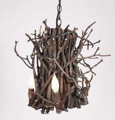 Stick chandelier