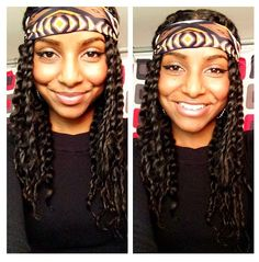 Shaneice's twists are cute #NaturalHairRocks #CurlyHair #officiallynatural