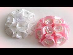 (5) Воздушные цветы из лент для школы, канзаши МК - YouTube