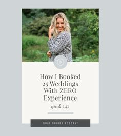 How I Booked 25 Weddings with ZERO Experience. Tune in to the Goal Digger Podcast as Jenna Kutcher shares her story of leaving her windowless corporate office by booking 25 weddings her first season (and how you can too). Headshot Photography, Photography Lessons, Wedding Photography, Photography Studios, Photography Ideas, Photography Backdrops, Artistic Photography, Children Photography, Family Photography