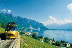 the most breathtaking train rides.  (the golden pass railroad in switzerland)