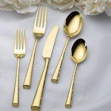 Marchesa Imperial Caviar Gold Flatware