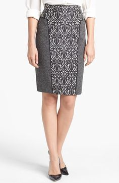 Rachel Roy Mixed Media Pencil Skirt available at #Nordstrom