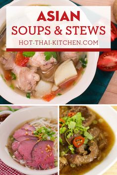 Asian soups and stews that will surely be your next comfort food! These recipes have video tutorial and a handy printable recipe to walk you through how to make these authentic asian soups and stews.|how to make Asian soups|how to cook Asian stews Asian Noodle Recipes, Easy Asian Recipes, Thai Recipes, Asian Stew Recipe, Asian Soup, Yummy Pasta Recipes, Soup Recipes, Chicken Recipes, Dinner Party Recipes