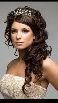 Curly Wedding Hairstyles For Long Hair Pinterest Weddings And Hairstyle