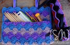 crocheted needle/hook roll, though great for jewelry too?