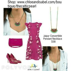 Today's Featured Product: Jaipur Convertible Pendant Necklace $58 Shop: https://www.chloeandisabel.com/boutique/thecelticpearl/products/N526PIAG/jaipur-convertible-pendant-necklace    #Summer #love #daily #product #Featured #India #Jaipur #Necklace #convertible #turquoise #fuchsia #jewelry #fashion #accessories #style #shopping #shop #trendy #trending #trend #boutique #chloeandisabel #thecelticpearl #lifetimeguarantee #online #buy