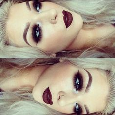 Bold eyes and lips