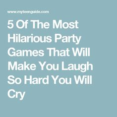 Planning a party and need some game ideas? I've found some of the most hilarious party games for teens to keep everyone laughing and having fun! Office Party Games, Party Games Group, Tween Party Games, Pool Party Games, Indoor Party Games, Easy Party Games, Sleepover Party, Pajama Party, Games For Big Groups