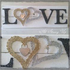 double heart love all strung up string art
