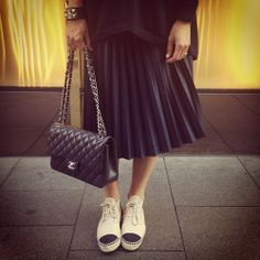 Feeling like a school girl in my pleats today #chanel x 2 by tashsefton