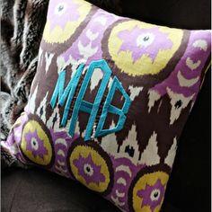 Monogramed pillows