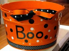BOO  Beverage Bucket by YourPreppyPresent on Etsy, $50.00