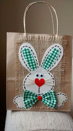 Easter Projects, Easter Crafts, Diy And Crafts, Crafts For Kids, Arts And Crafts, Happy Easter, Easter Bunny, Diy Ostern, Craft Bags