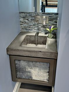 concrete vanity/sink