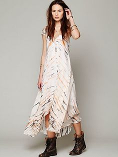 Lotta Stensson Tie Dye Cap Sleeve Maxi at Free People Clothing Boutique