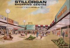 Ireland's first shopping centre - Stillorgan which opened in 1966 - loved going here. Covered Walkway, Irish Design, Dublin City, Best Memories, Childhood Memories, Dublin Ireland, Old Postcards, Going Home, Shopping Center