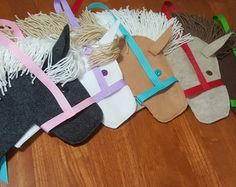 Items similar to Stick Horse Party Favor Set with Yarn Manes Ready to Stuff and Add Stick on Etsy Cowboy Party, Horse Party Favors, Derby Horse, Stick Horses, Toys Shop, Hot Pads, Birthday Party Themes, Holiday Decor, Unique Jewelry