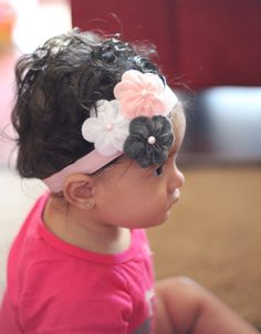 Felt Flower headband-Baby headband-Infant Headband - Toddler Headband -Newborn headband. $8.50, via Etsy.