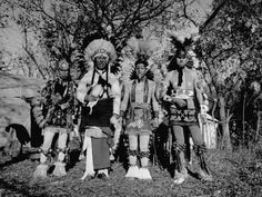 Otoe Tribe in Traditional Clothing, During Presentation of Jefferson's Letter to Princeton Premium Photographic Print by Cornell Capa at AllPosters.com