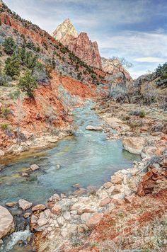 ✮ Virgin River Flows through Zion Canyon