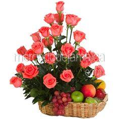 rosas y fruta