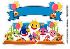 An online card Shark Birthday Cakes, Baby Boy Birthday, 2nd Birthday Parties, Baby Shark Doo Doo, Shark Cake, Party Themes For Boys, Shark Party, Ideas Party, Bolo Paris
