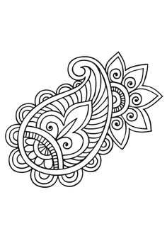 Mandala Illustration - Coloring Pages Mandala Coloring, Colouring Pages, Adult Coloring Pages, Coloring Books, Paisley Coloring Pages, Zentangle Patterns, Embroidery Patterns, Hand Embroidery, Zentangles