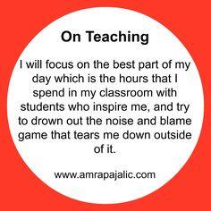 What's wrong with teachers? My Teacher, School Teacher, Whats Wrong, Best Part Of Me, Blame, Inspire Me, High School, Classroom, Student