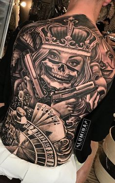 Awesome some work done at by tom_lumina🔥 swipe for another side 👉. Call the shop or stop by to set up appointment 👈💯 Chicanas Tattoo, Clown Tattoo, Forarm Tattoos, Tattoo Motive, Dope Tattoos, Badass Tattoos, Tatoo Art, Skull Tattoos, Leg Tattoos