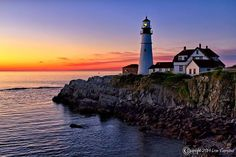 Don Gargano Photography - Portland Headlight at dawn, Cape Elizabeth, Maine 08/20/2014