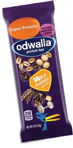 Super Protein Odwalla Bar  This is the perfect snack between my step aerobics class and my body sculpting class!