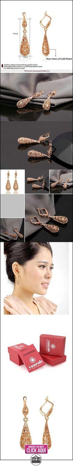 Yoursfs pendientes chapado en oro/blanco con diseño de hueco para las mujeres elegantes  ✿ Joyas para mujer - Las mejores ofertas ✿ ▬► Ver oferta: https://comprar.io/goto/B00CKLIQBC