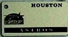 """This is an MLB Houston Astros Team License Plate Key Chain or Tag. An excellent and affordable gift for an avid MLB fan! The key chain is available with engraving or without engraving. It is a standard key chain made of durable plastic and size is approximately 1.13"""" x 2.25"""" and 1/16"""" thick."""