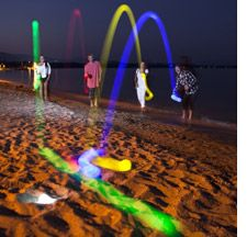 Glow-in-the-dark Game of Bocce Ball