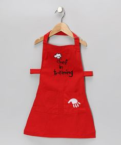 Take a look at this Manual Red 'Chef in Training' Apron by Manual on #zulily today!