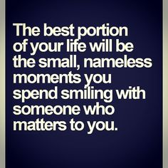 There's nothing bigger than the little things.