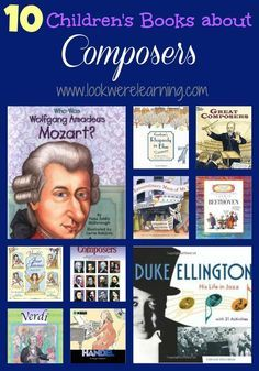 Since we're beginning our lessons about classical music, we're sharing 10 great children's books about composers! musik Gorgeous Children's Books about Composers! Piano Teaching, Teaching Reading, Learning, Piano Lessons, Music Lessons, Art Lessons, Rhapsody In Blue, Music Activities, Sequencing Activities