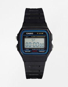 Black digital watch, Casio
