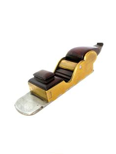 Rare Gunmetal Chariot Plane With Rosewood Infill