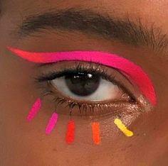 Playful rainbow eyes for Using Chromecakes mixed with Fix + 🌈🌈🌈🌈 Eye Makeup Art, Pink Makeup, Cute Makeup, Pretty Makeup, Makeup Inspo, Makeup Artistry, Exotic Makeup, Bright Makeup, Fairy Makeup