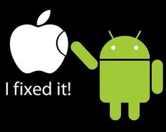 Android Gets a Fix from Apple, google android bot fixes apple logo
