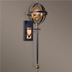 Multi-tone Metal Strap Sconce, $251